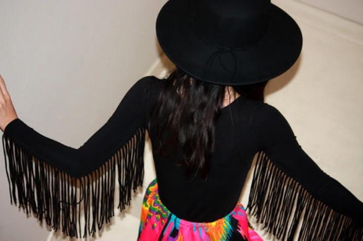 DIY: jersey con flecos | Fashionisima.es