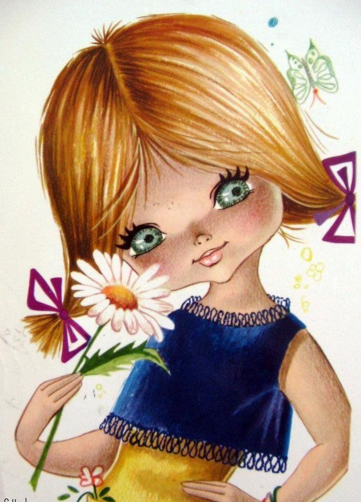 Прикольная картинка девочки рисованная