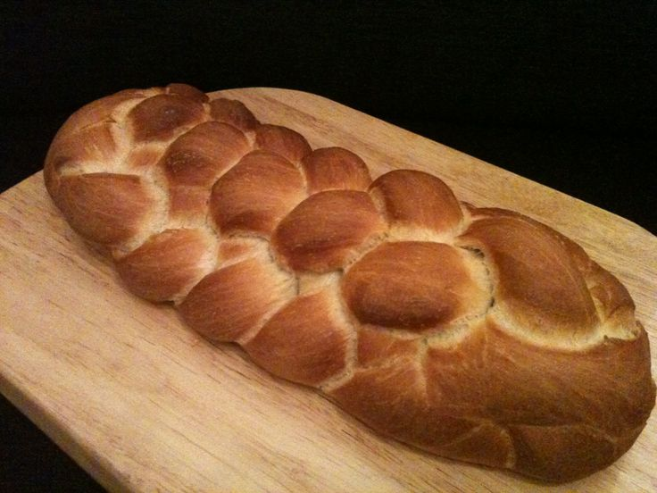 My first attempt at an eight-strand plaited loaf
