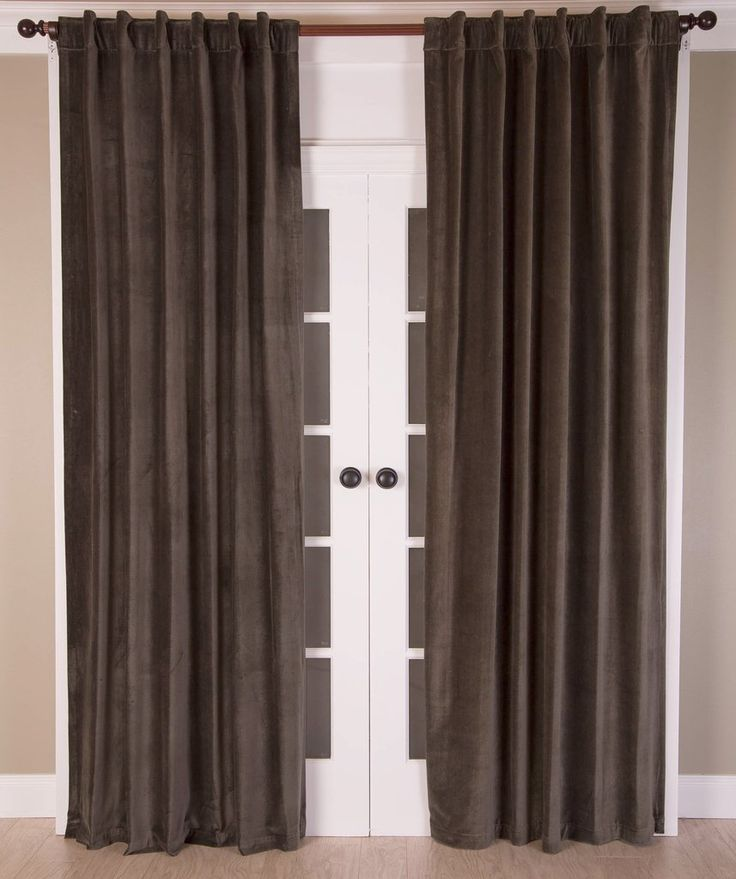 #P550 Charcoal Faux Silk Curtain (Use Discount Code) YOU PAY 1/2 DOWN