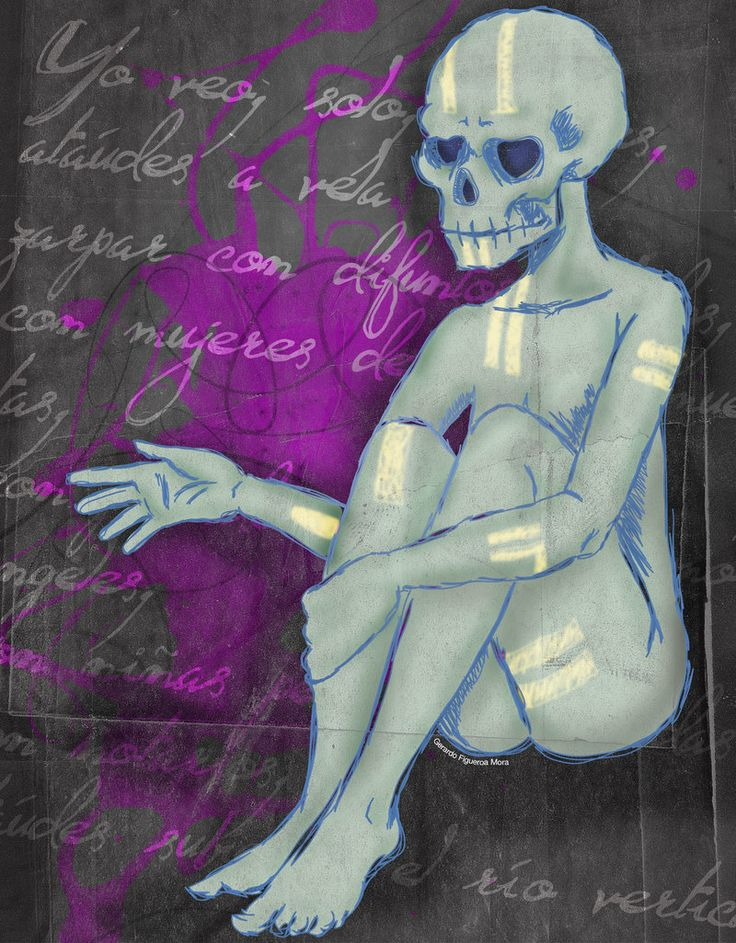 Calavera Poesia by altertaipei.deviantart.com on @deviantART #illustration #death #diademuertos #nostalgia