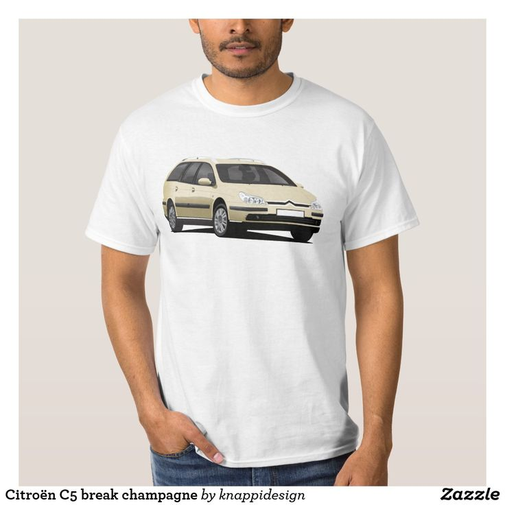 Citroën C5 break champagne t-shirt.  #citroen #citroën #citroenc5 #citroënc5 #citroenc5break #frenchcars #automobile #automobileillustration #car #cartshirts #french #auto #bilar #illustration