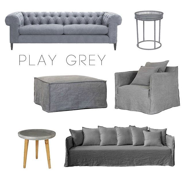 Inspired by our Sydney skies, we're playing Grey!  From left: Nord Sofa Felt, Borneo Side Table, Casper Ottoman, Casper Armchair, Degraves Side Table and Casper Sofa.  #cpadmoodboards #cpadsofa #cpadarmchair #cpadottoman #cpadsidetable