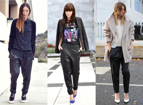 Prachtig: leather jogging, nieuwe trend!