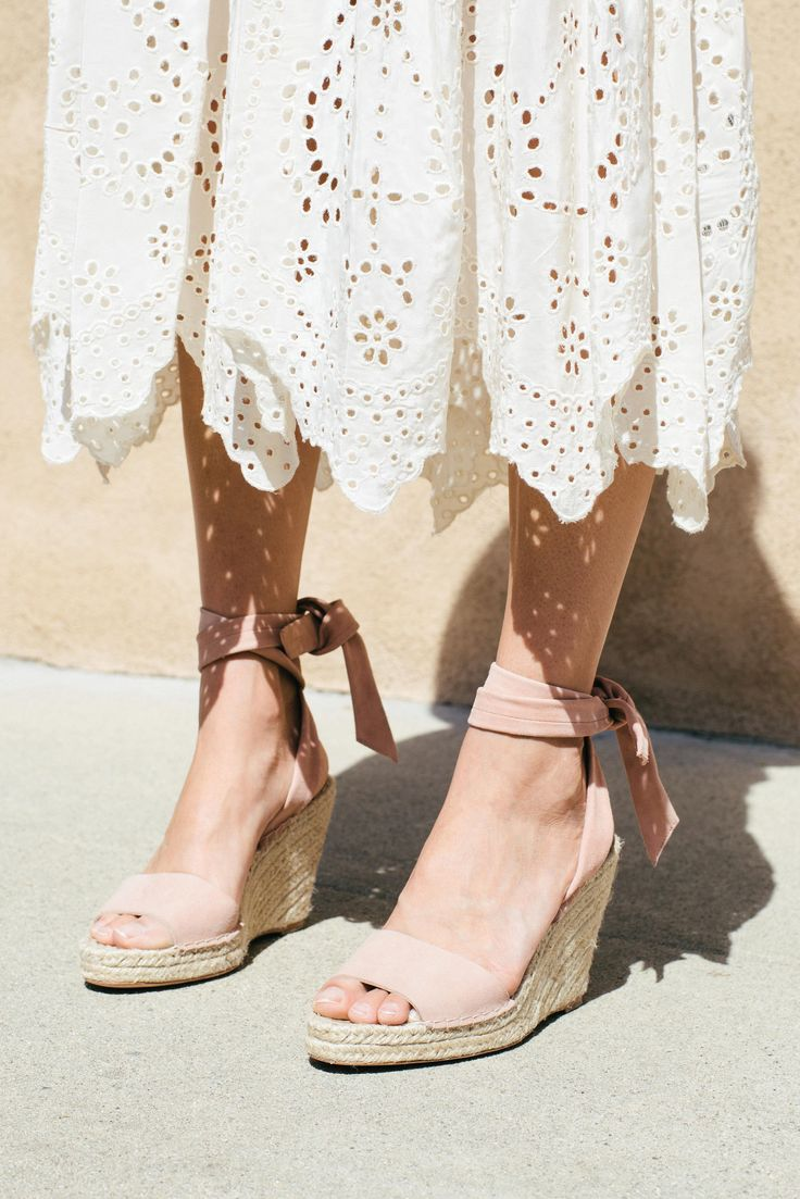LR x Kate Brien featuring the Harper Wrap Espadrille Wedge