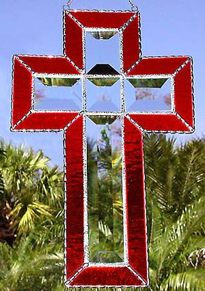 """Stained Glass Crosses 