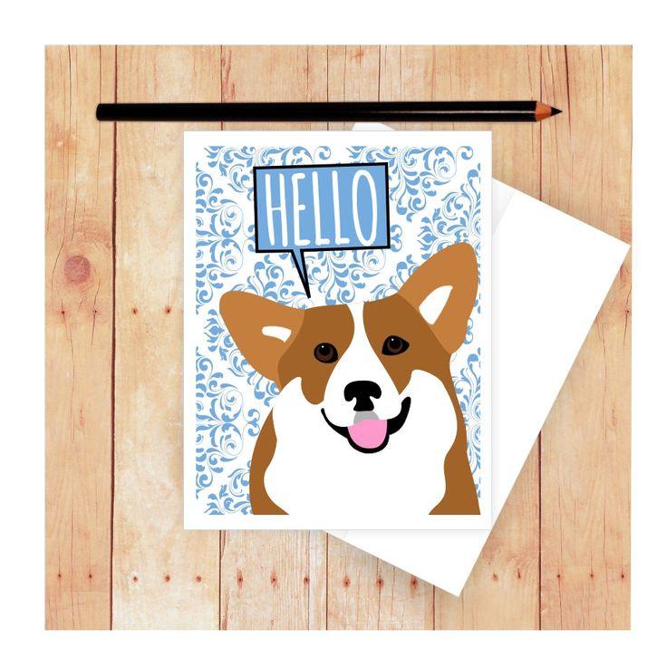 28 Best Corgi Greeting Cards Images On Pinterest Corgis