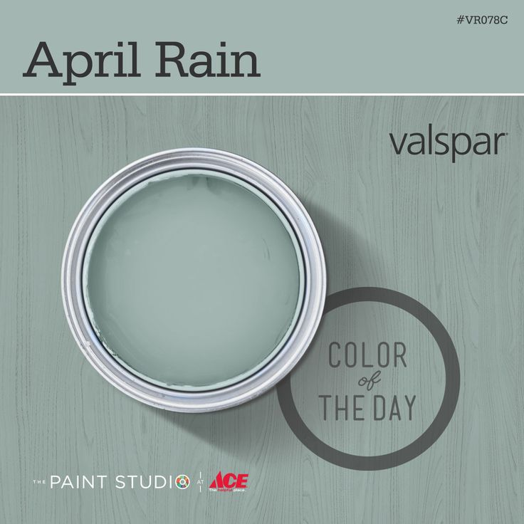 Color of the Day: April Rain by #Valspar spare bathroom and laundry