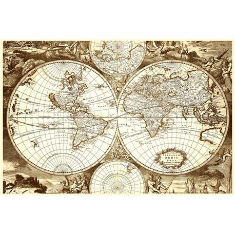 Obraz na płótnie - Hondius Stara mapa świata - dostępny w rozmiarach 120x80, 90x60, 70x45 i 60x40 cm #fedkolor #obraz #obraznapłótnie #mapa #mapy #świata #staramapa #stara #hondius #wydruknapłótnie #wydruki #wydrukuj #zdjęcie #fotografię #napłótnie #dopokoju #dogabinetu #klasycznie