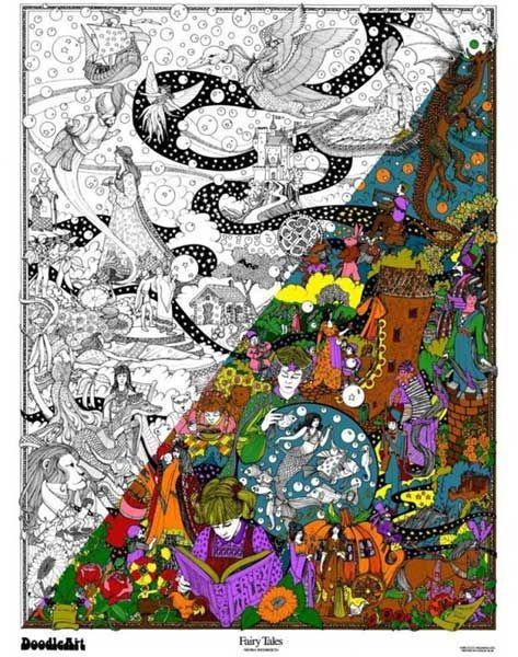 Older kids - DoodleArt - intense colouring in