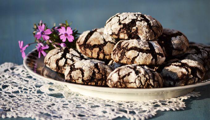 "moksha.hu | Gyömbéres-vaníliás ""crackle chocolate cookies"" | http://www.moksha.hu"