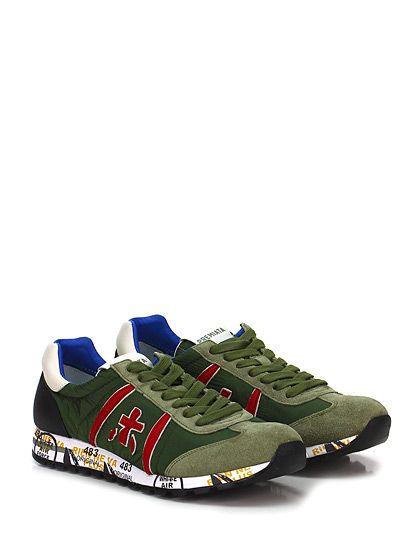 PREMIATA - Sneakers - Uomo - Sneaker in tessuto tecnico, pelle e camoscio con suola in gomma, tacco 30, platform 15 con battuta 15. - 1463 MILITAREOLIVA - € 183.00