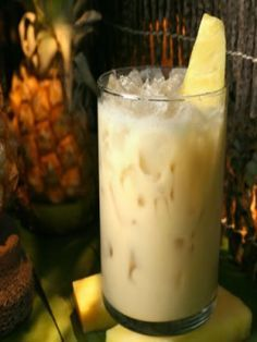 Painkiller...official drink of the British Virgin Islands Painkiller  2 ounces dark rum 1 ounce cream of coconut 4 ounces pineapple juice 1 ounce orange juice  Shake or stir ingredients and pour over ice in a tall glass.  Sprinkle nutmeg on top.