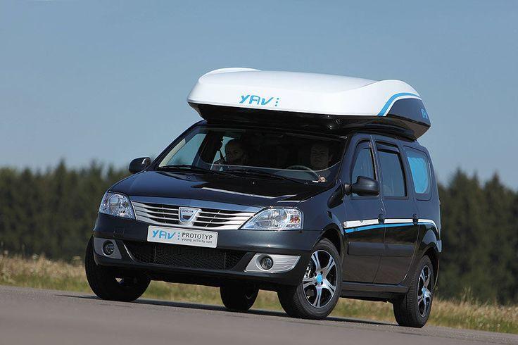Mit dem Young Activity Van III stellt Dacia ein Allround-Fahrzeug auf Basis des Dacia Logan MCV vor. Der Fünfsitzer bietet Schlafplätze für drei Erwachsene und Campingausrüstung ausgestattet.
