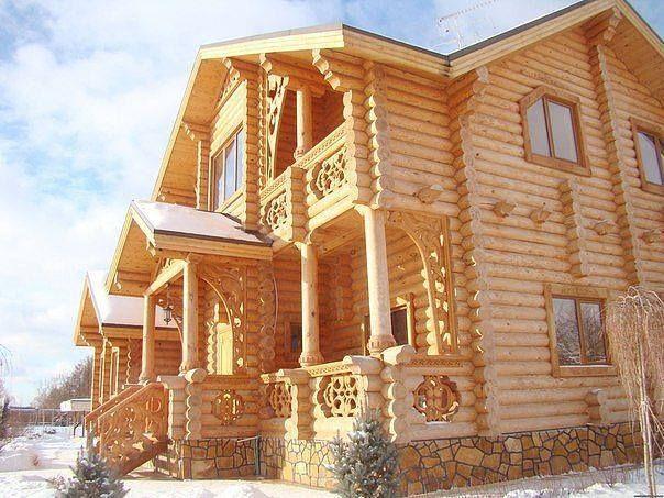Фото деревянных домов - Дом из бревна