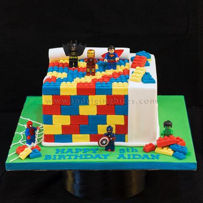 lego superheroes birthday cake - Google Search