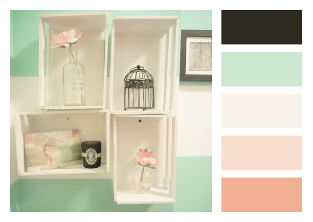 17 best images about bathroom ideas on pinterest grey for Peach colored bathroom ideas