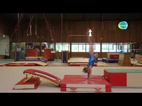 Excerpt of the training on the back handspring on the floor: GymneoTV - YouTube