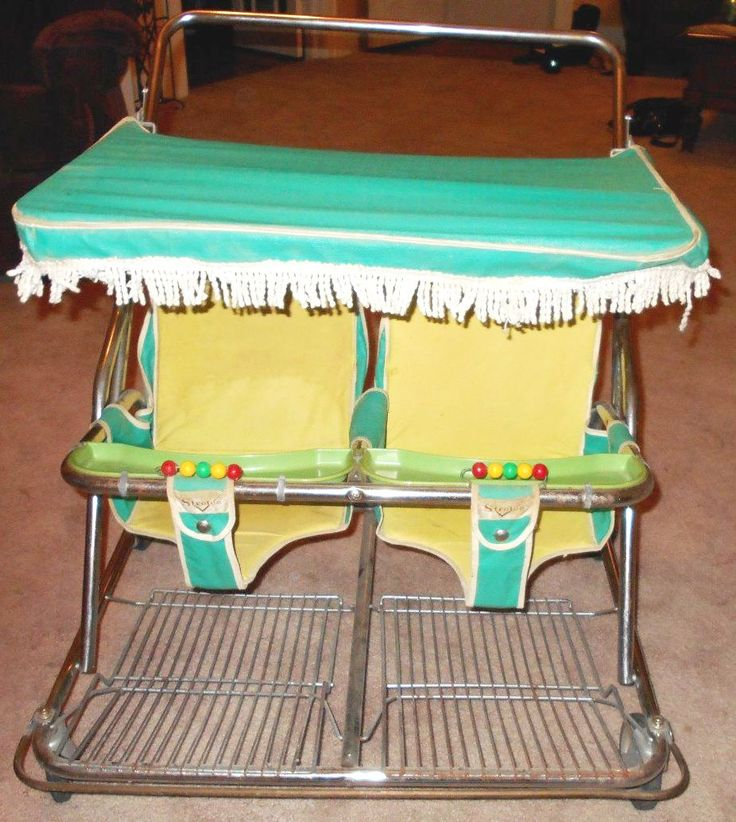1960s' Strolee of California twin baby stroller