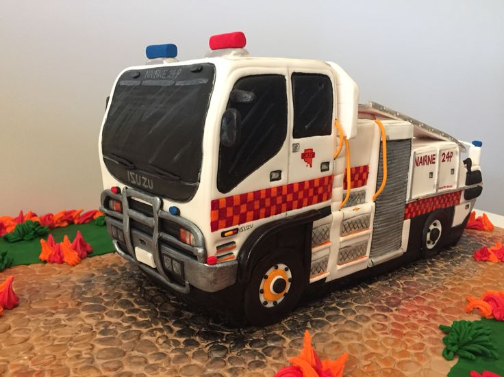 3D CFS fire truck made for a volunteer firefighter!