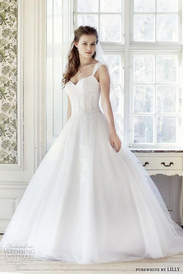 Purewhite With Cap Dress Sleeves Wedding By Lilly 2014 2015 Lace Cvg1q