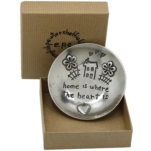 Home Is Where The Heart Is Pewter Trinket Dish  from www.personalisedweddinggifts.co.uk :: ONLY £24.99