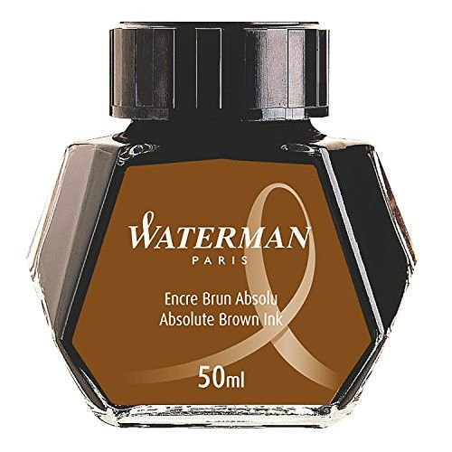 Waterman Fountain Pen Bottled Ink - Brown