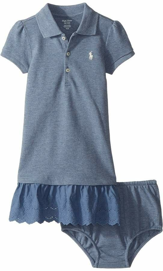 915199440f Eyelet Polo Dress with bloomer | Baby Girl Clothes #ad | lil girl ...