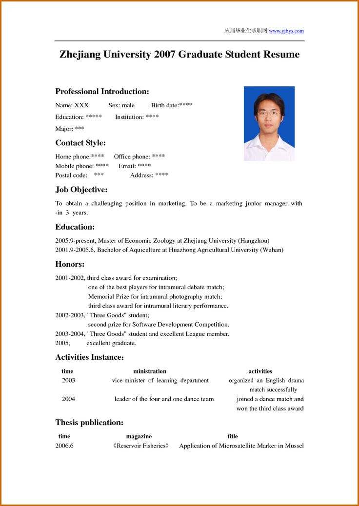 how to write a cv for students