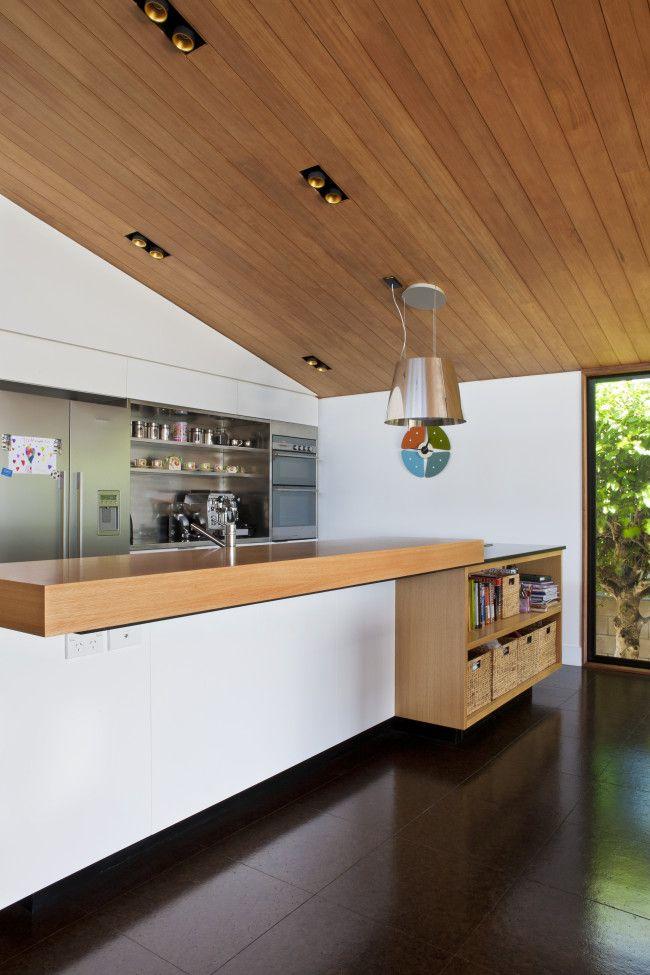kitchen island with storage (Zinc + cedar architecture | Designhunter)