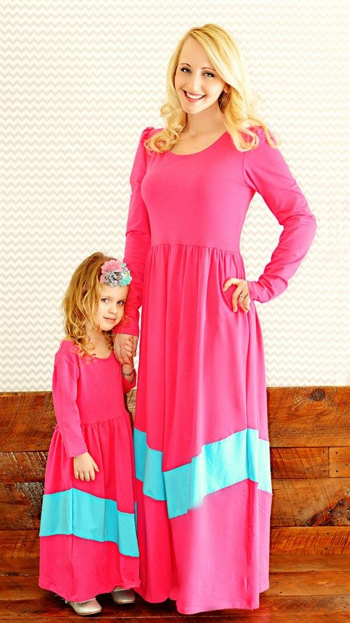 These maxi dresses come in 3 different styles and colors.Also available in girls sizes, giving you the opportunity to style your little princess just like Mommy.Quality fabric. 95% Cotton and 5% Spandex.Girls' sizes fromages 2-10 years old. Women's sizes up to 3XL. Runs true to size. For size chart, refer to the product page on our website.