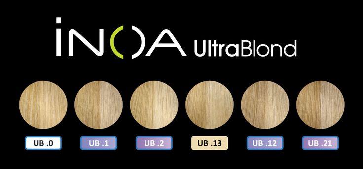 iNOA UltraBlond Shades. | Color Charts | Pinterest | Shades