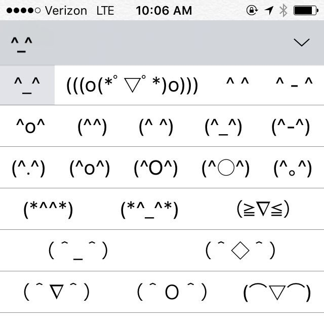 There's a Secret Kaomoji Keyboard on Your iPhone