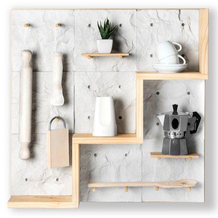 IN SCALE è una parete modulare creata da VALPIETRA® in collaborazione con gli studenti di NABA - www.valpietra.com