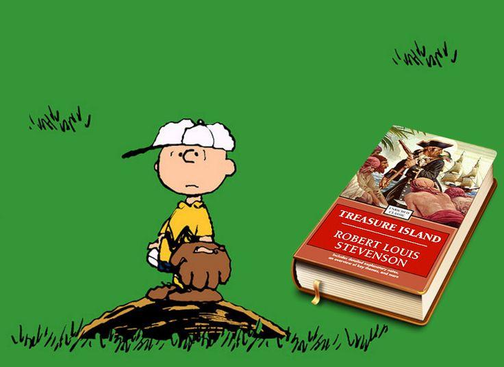 Charlie Brown reads: Tresure Island by Stevenson