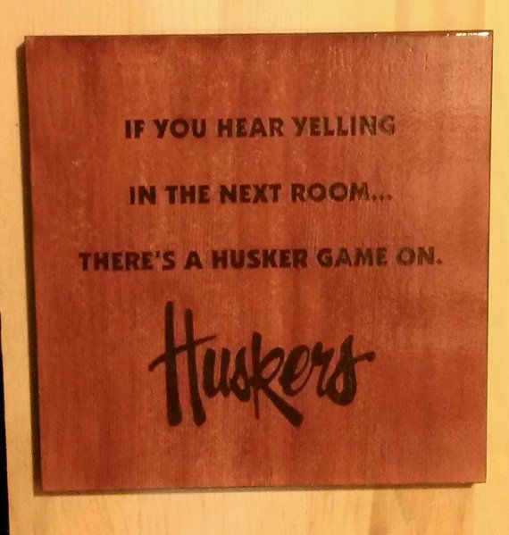 Wood Burned Nebraska Cornhusker Sign by HowNeatIsThat on Etsy, $19.99