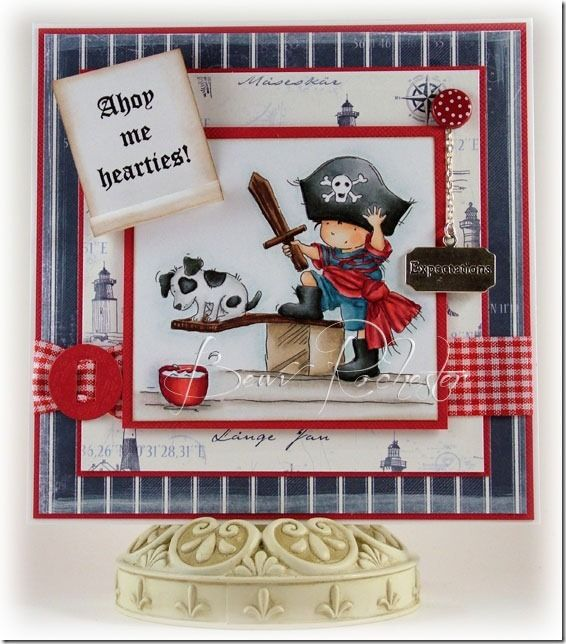 "This sweet ""Walk the Plank"" card from Bev Rochester (using Lili of the Valley stamps) has to be one of my favourites."