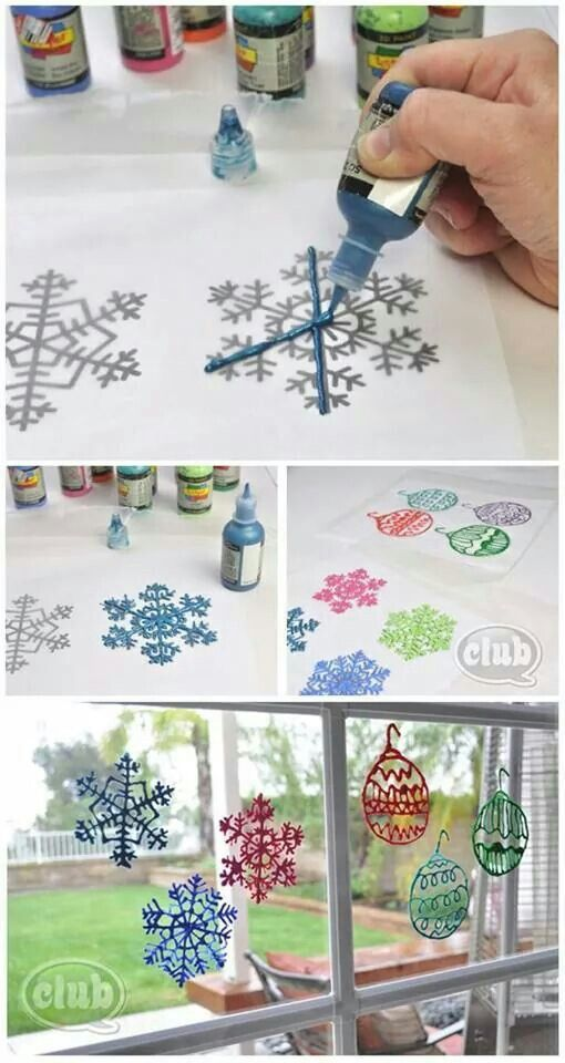 Window cling snoflakes, DIY