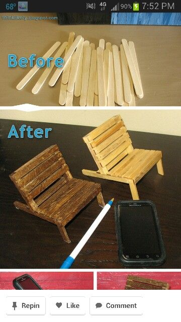 76 Best Images About Popsicle Sticks Doll Fairy Furniture