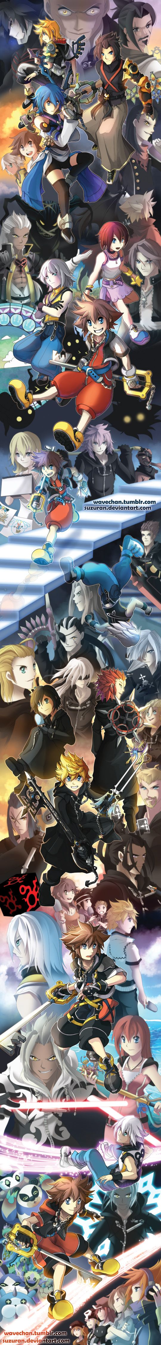 SUPER LONG Kingdom Hearts tribute by suzuran.deviantart.com on @DeviantArt