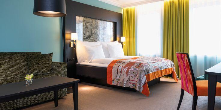 Seng i businessrom på Thon Hotel Stavanger