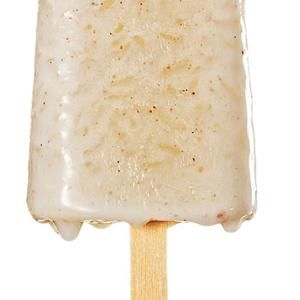#RicePudding Ice Pops (#Paletas de Arroz con Leche)  -  Starchy rice adds creaminess to #PuddingPops without the addition of extra cream! From Saveur, found at www.edamam.com.