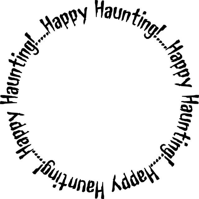 Happy Haunting and Boo to You Frames for Halloween Cards and other Projects: Happy Haunting Halloween Frame 2