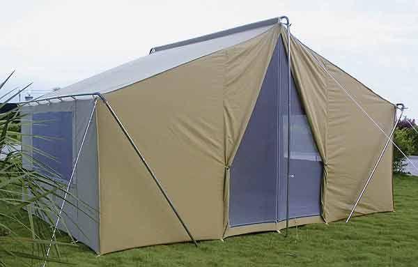 Canvas Tent 10'x14' | Durable Canvas Camping Tent | Vinyl Floor