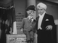 In 1949, Edgar Bergen went to CBS, with a new weekly program, The Charlie McCarthy Show, sponsored by Coca-Cola.