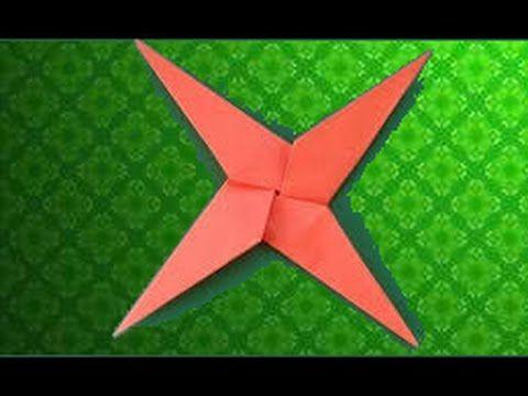 Оригами сюрикен: 4-х и 8 конечный – схема и мастер-класс с видео