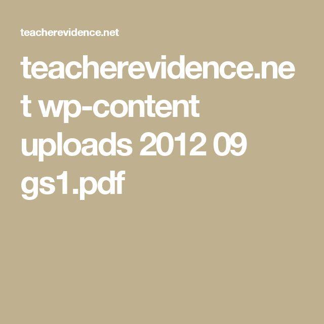 teacherevidence.net wp-content uploads 2012 09 gs1.pdf