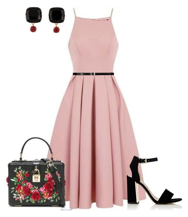 """dress2261"" by k-meszaros on Polyvore featuring Chi Chi, Yves Saint Laurent, Sam Edelman, Dolce&Gabbana and Les Néréides"