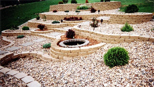 terraced stone xeriscape | For the Home | Pinterest | Yards, Yard ideas and Gardens