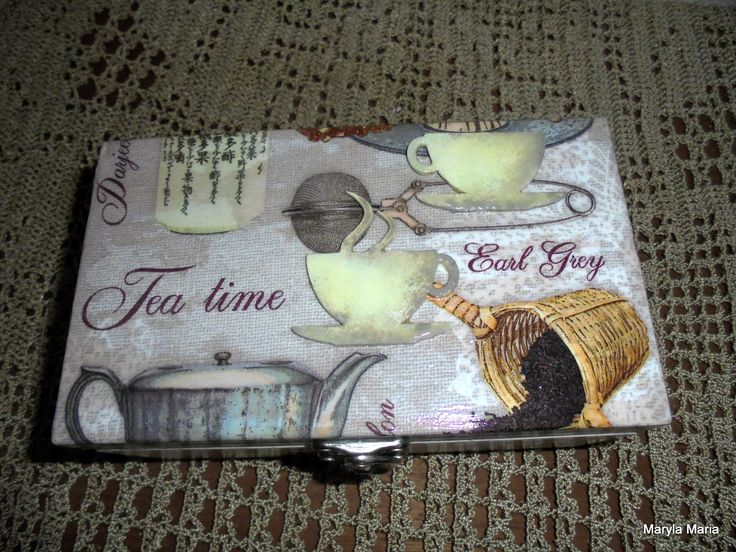 Hobby - mój decoupage / pudełko na herbatę //Hobby - my decoupage / tea box